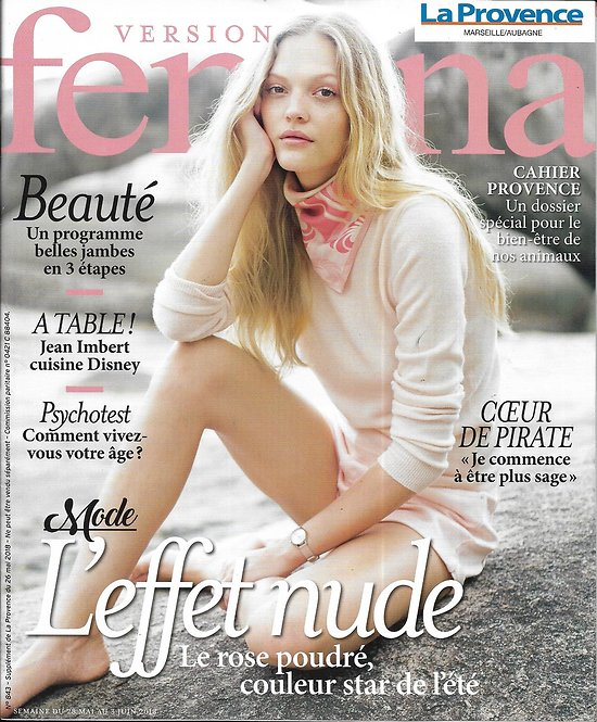 VERSION FEMINA n°843 28/05/2018  Mode effet nude/ Coeur de Pirate/ Jean Imbert cuisine Disney/ Programme belles jambes