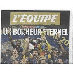 L'EQUIPE n°23365 16/07/2018  L'Equipe de France, Championne du monde! Mondial 2018
