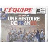 L'EQUIPE n°23366 17/07/2018  Une histoire de France/ les Bleus Champions du monde/ + poster