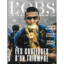L'OBS n°2802 18/07/2018  Les Bleus: les coulisses d'un triomphe/ Tous nus!/ Affaire Empain/ Dian Fossey