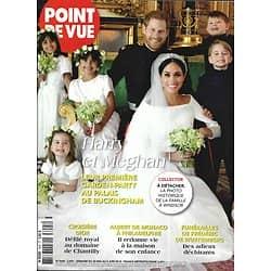 POINT DE VUE n°3645 30/05/2018  Meghan & Harry: garden party/ Les Macron à Saint-Pétersbourg/ Albert II