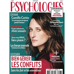 PSYCHOLOGIES n°383 mars 2018  Camille Cottin/ Bien gérer les conflits/ Se libérer de la charge mentale