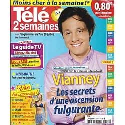 TELE 2 SEMAINES n°379 07/07/2018  Vianney/ Pékin Express/ Vangsness/ Tour de France/ Spécial vacances