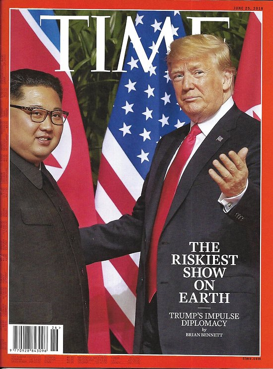 TIME VOL.191 n°24 02/07/2018 Trump's foreign policy/ Democratic primaries/ Black men and sons/ Celebrities publishing