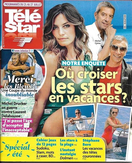 TELE STAR n°2181 21/07/2018  Où croiser les stars en vacances?/ Michael Douglas/ Ophélie Meunier/ Drucker & Delahousse/ C.Touzet