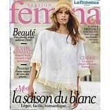 VERSION FEMINA n°852 30/07/2018  Blanc d'été/ Emma Thompson/ Paradis sur pilotis/ Ecrivains & psys/ Soins des pieds