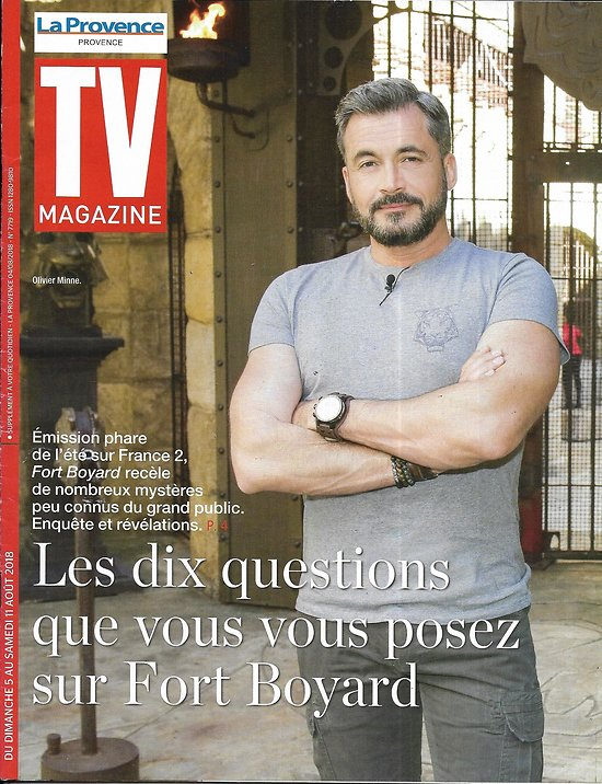"TV MAGAZINE 05/08/2018  Olivier Minne/ Vos questions sur ""Fort Boyard""/ ""Motive"""