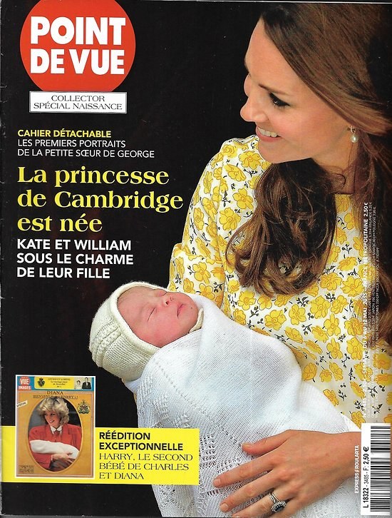 POINT DE VUE n°3485 06/05/2015  Collector: naissance princesse de Cambridge/ Naissance & baptême Harry/ Dietrich & Gabin/ Art Brussels