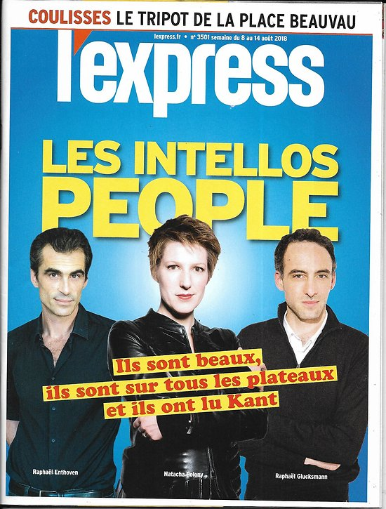 L'EXPRESS n°3501 08/08/2018  Les intellos people/ Casinos du ministère/ Les droites & la question russe/ Le Kentucky avec Trump/ Data centers