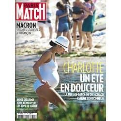 PARIS MATCH n°3614 16/08/2018 Charlotte Casiraghi, un été en douceur/ Macron en vacances/ Le dernier été de John Kennedy Jr/ Annie Girardot la femme blessée/ Tops de l'été: Alexina Graham