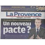 LA PROVENCE n°7850 11/12/2018  Annonce de Macron: un nouveau pacte?/ La crise en France/ Vélodrome/ Sports