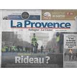 LA PROVENCE n°7854 15/12/2018  Gilets jaunes acte V: rideau?/ Miss Provence/ OM/ Attentat Strasbourg