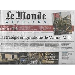 LE MONDE n°22030 14/11/2015  Stratégie de Valls/ Dopage/ Viande rouge/ CSG/ Affaire Karachi/ Climat