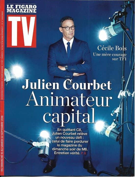TV MAGAZINE 16/09/2018  Julien Courbet, animateur capital/ Cécile Bois, mère courage/ JB Boursier/ Jim Carrey