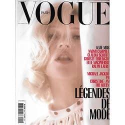 VOGUE n°990 septembre 2018  Kate Moss/ Légendes de mode: Schiffer, Campbell, Le Bon, MacPherson, Turlington, Ralph Lauren