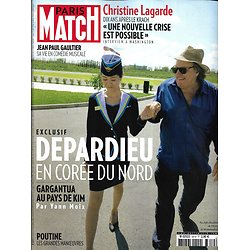 PARIS MATCH n°3619 20/09/2018  Depardieu en Corée du Nord/ Cyclones/ Gaultier/ Ryder Cup/ Lady Gaga/ Tonnant/ kevin Mayer