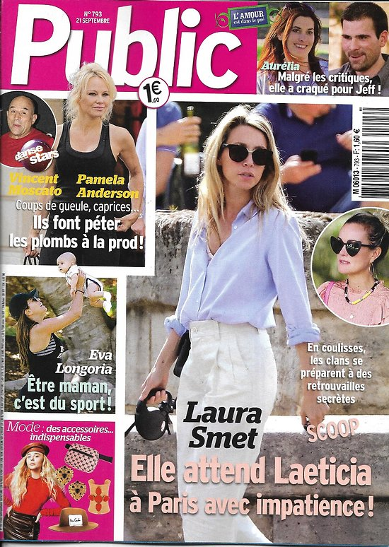 PUBLIC n°793 21/09/2018  Laura Smet/ Pamela Anderson/ Eva Longoria/Lady gaga/ Lenny Kravitz