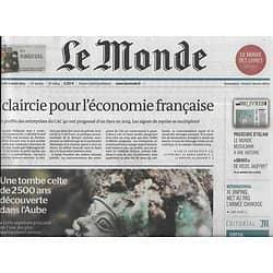 LE MONDE n°21814 06/03/2015  Tombe celte/ Profits CAC40/ MH370/ Sivens sous tension/ Passeurs d'islam