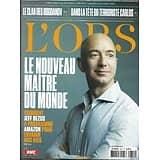 """L'OBS n°2812 27/09/2018  Bezos, nouveau maître du monde/ """"Bureau es légendes""""/ Sexe, race & colonies/ Miossec & Dominique A/ Bogdanov/ Carlos"""