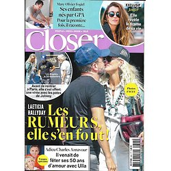 CLOSER n°695 05/10/2018  Laeticia Hallyday/ Jenifer/ Adieu Aznavour/ Fogiel/ Spécial make-up