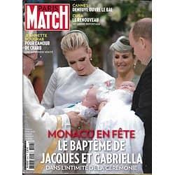 PARIS MATCH n°3443 13/05/2015  Baptême de Jacques & Gabriella/ Fille de Hoess témoigne/ Bougrab & Charb/ Cuba libre