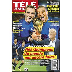 TELE MAGAZINE n°3284 13/10/2018  Ligue des Champions: l'Equipe de France/ Lagaf'/ Guénaire/ Jenifer/ JP Gaultier