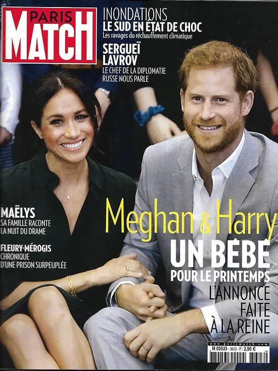 PARIS MATCH n°3623 18/10/2018  Meghan&Harry: bientôt un bébé/ Inondations Sud France/ Parc Chiribiquete Amazonie/ Bradley Cooper