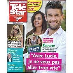 TELE STAR n°2194 20/10/2018  L'amour est dans le pré/ Laeticia Hallyday/ Stars tv & cancer, la fin d'un tabou?/ Corinne Masiero/ Charlotte Rampling