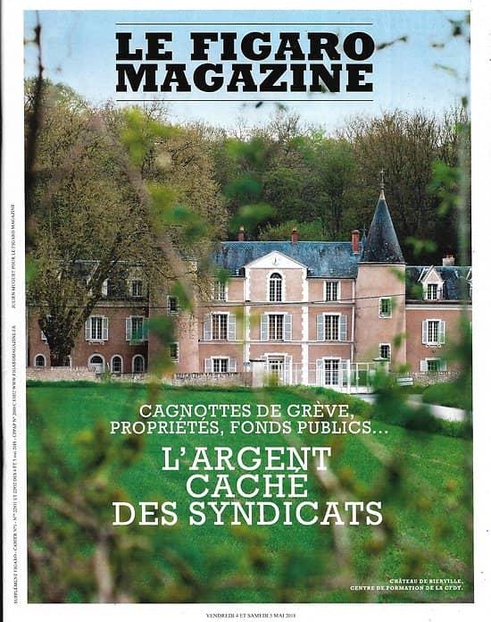 LE FIGARO MAGAZINE n°22931 04/05/2018  L'argent caché des syndicats/ Conquête Grand Nord/ Palermo (Buenos Aires)/ Français à Cannes