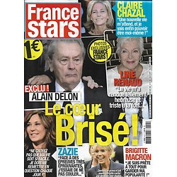 FRANCE STARS n°45 nov.2018  Alain Delon/ Brigitte Macron/ Claire Chazal/ Zazie/ Jane Birkin