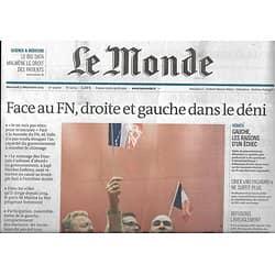 LE MONDE n°22051 09/12/2015  Face au FN, droite & gauche dans le déni/ Données de santé/ Islamisme au Kosovo/ Michel Fields