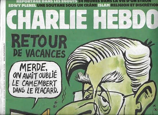 CHARLIE HEBDO n°1257 24/08/2016  Retour de vacances: le Chevènement au lait cru