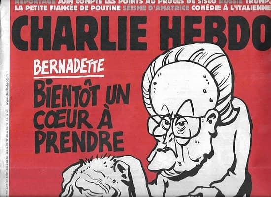 CHARLIE HEBDO n°1261 21/09/2016  Bernadette: bientôt un coeur à prendre
