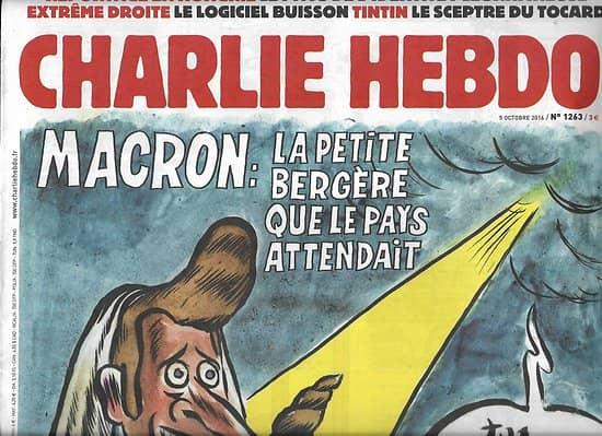 CHARLIE HEBDO n°1263 05/10/2016  Macron: la petite bergère que le pays attendait