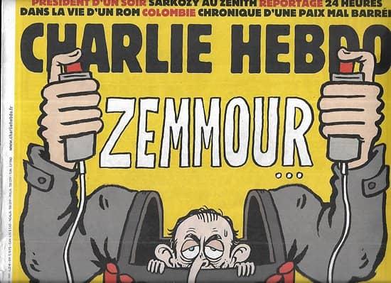 CHARLIE HEBDO n°1264 12/10/2016  Zemmour: sors de là si t'es un homme!