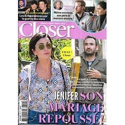 CLOSER n°699 02/11/2018  Jenifer/ Meghan Markle/ Les Enfoirés/ Jade Hallyday/ Halloween VIP/ Bigard/ Jennifer Garner