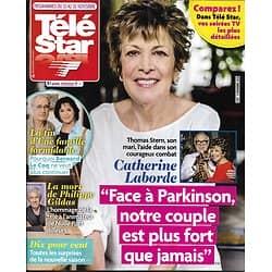TELE STAR n°2197 10/11/2018  Catherine Laborde/ Une Famille Formidable/ Philippe Gildas/ Muriel Robin/ Alyssa Milano