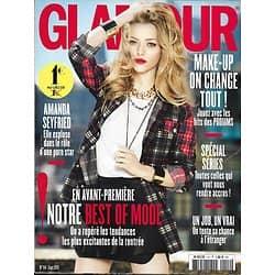 GLAMOUR n°114 septembre 2013  Amanda Seyfried/ Best of mode/ Spécial séries/ Filles: plus fortes en bandes!
