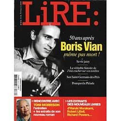 LIRE n°374 avril 2009  Boris Vian/ Toni Morrison/ Rabelais/ Cauwelaert/ Bégaudeau/ McGahern