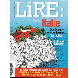 LIRE n°375 mai 2009  Spécial Italie de Dante à nos jours/ Citati/ Lapouge/ Rousseau/ Sedaris