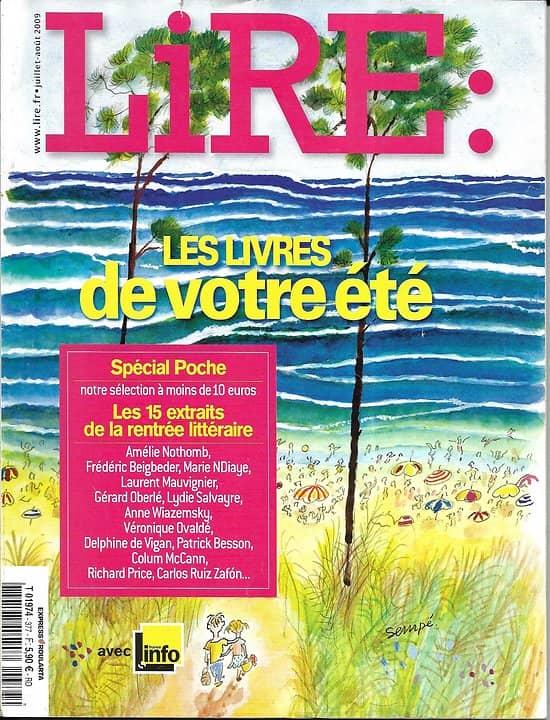 LIRE n°377 juillet-août 2009  Les livres de votre été/ Obaldia/ Carrière/ Boulgakov/ Rentrée littéraire