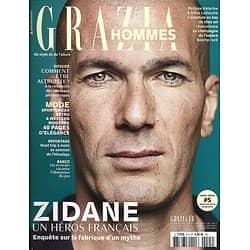 GRAZIA HOMMES n°5 automne-hiver 2018-2019  Zidane, un héros français/ Nouveaux philanthropes/ Mode/ Baie de Cardigan/ Obsession du jeu/ Road trip Himalaya