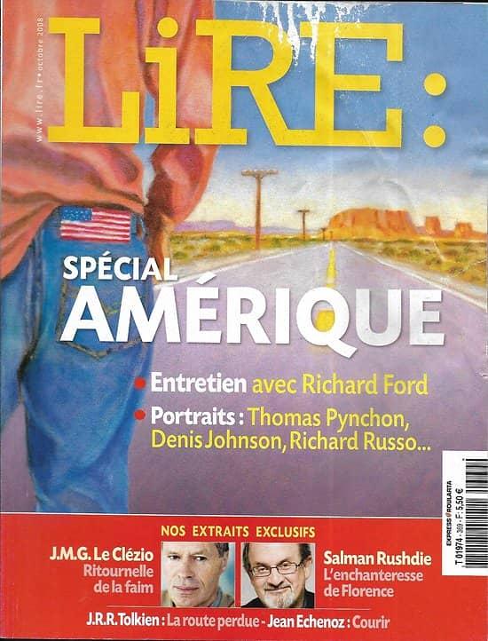 LIRE n°369 octobre 2008  Spécial Amérique/ Richard Ford/ Hegel/ Savigneau/ Rushdie