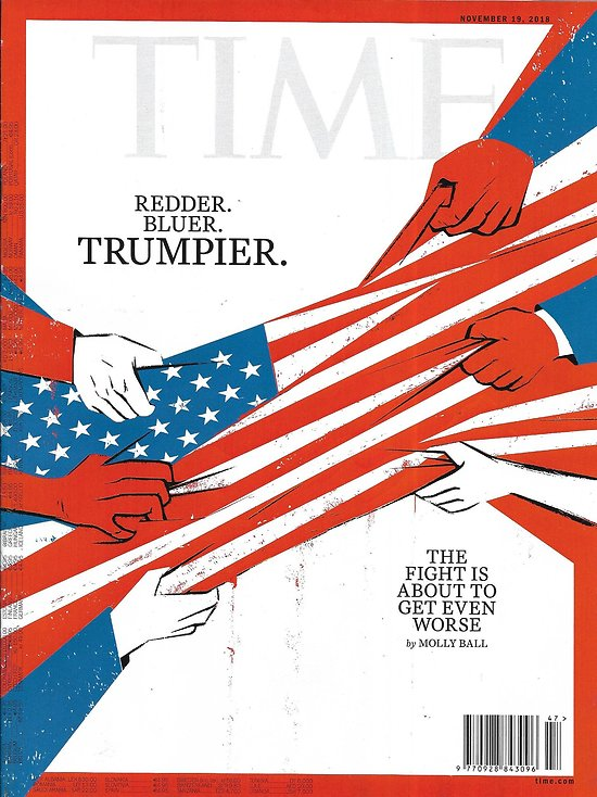 TIME VOL.192 n°21 19/11/2018  Nation divided/ Fight for soul of China/ Selling desire/ Vestager