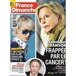 FRANCE DIMANCHE n°3759 14/09/2018  Véronique Sanson/ Michel Drucker/ Laeticia Hallyday/ Luchini/ Deschamps