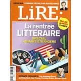 LIRE n°409 octobre 2012  La rentrée littéraire: spécial romans étrangers/ Jean Echenoz/ Pascal/ Cédric Villani
