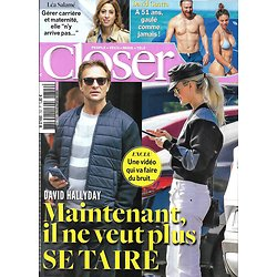 CLOSER n°702 23/11/2018  David & Laeticia Hallyday/ David Guetta/ J.Chastain/ Céline Dion/ Guichard/ Soins du visage