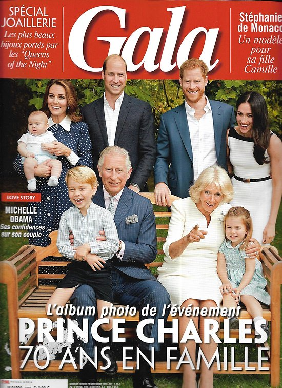 GALA n°1328 21/11/2018  Prince Charles, 70 ans en famille/ Michelle Obama/ Jessica Chastain/ Thomas Pesquet/ Michael Jackson/ Spécial joaillerie