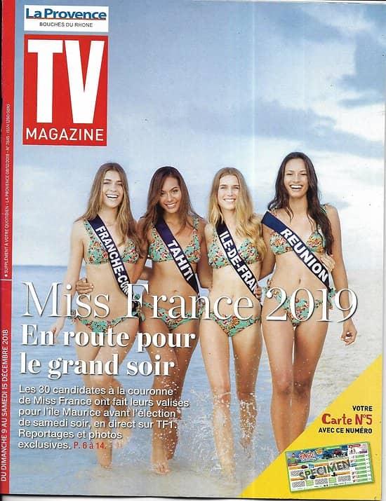 TV MAGAZINE-La Provence 09/12/2018  Spécial Miss France 2019/ Marine Lorphelin/ Julie Andrieu/ Cop24/ Laëtitia Milot (copy)
