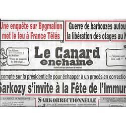 LE CANARD ENCHAINE n°5002 07/09/2016  Sarkozy s'invite à la fête de l'Huma/ Barbouzes au Niger